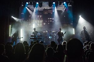 Obsidian Kingdom - Obsidian Kingdom performing A Year With No Summer during its presentation concert at Apolo in Barcelona, April the 16th 2016. Caption by Carles Romagosa.