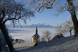 Mist - Mist near the Austria-Switzerland border in December 2006.