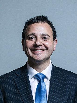 Alberto Costa (British politician) - Image: Official portrait of Alberto Costa crop 2