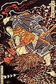 Oki no Jiro Hiroari killing a monstrous tengu.jpg