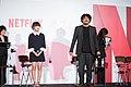 Okja Japan Premiere- Bong Joon-ho & Ahn Seo-hyun (38527203866).jpg