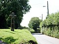 Old cross on road to Belstone Corner at Samford Courtenay, Mid Devon.jpg