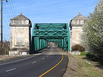 Old Hickory, Tennessee - North Entrance to Old Hickory, Tennessee, on the Old Hickory bridge over the Cumberland River