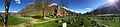 Olden Church Sogn og Fjordane Panorama graveyard 2015-04-28.JPG