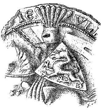 Ulrich III, Duke of Carinthia - Part of a seal used by Ulrich III