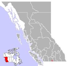 Location of Oliver in British Columbia