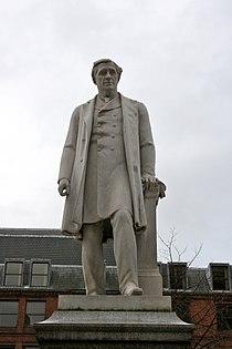 Oliver Heywood statue, Albert Square.jpg