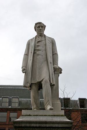 Oliver Heywood - Grade II listed statue in Albert Square, Manchester