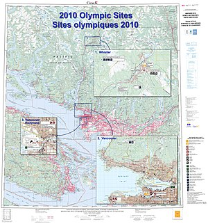 2010 Winter Olympics - Olympic sites map