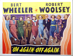 Wheeler & Woolsey - On Again-Off Again lobby card