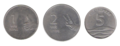 One, Two and Five Rupee coins.png