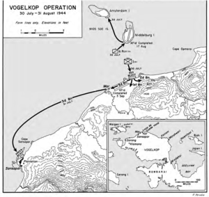 Battle of Sansapor - Operations map for Operation Typhoon in July–August 1944