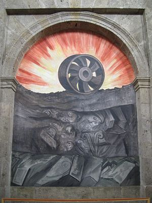 A Mural painting from Orozco in Hospicio Cabañ...