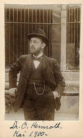Oskar Heinroth - Oskar Heinroth in May 1900