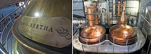 Oude Molen Distillery - Big Bertha and Long Tom, pot stills at Oude Molen