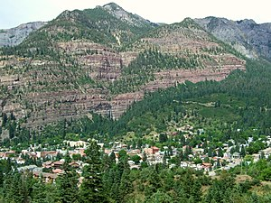 Ouray, Colorado from Box Canyon