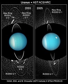 Deux photos comparant les anneaux connus en 2003 et 2005.