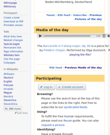 The media of the day player runs out of narrow screen on the right