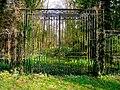 Overgrown gates at Denton Manor (geograph 2170806).jpg