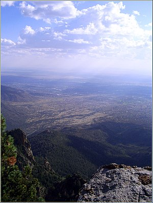 Albuquerque Basin - View of the Albuquerque Basin from Sandia Peak