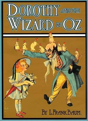 The original 1908 cover to Dorothy and the Wiz...