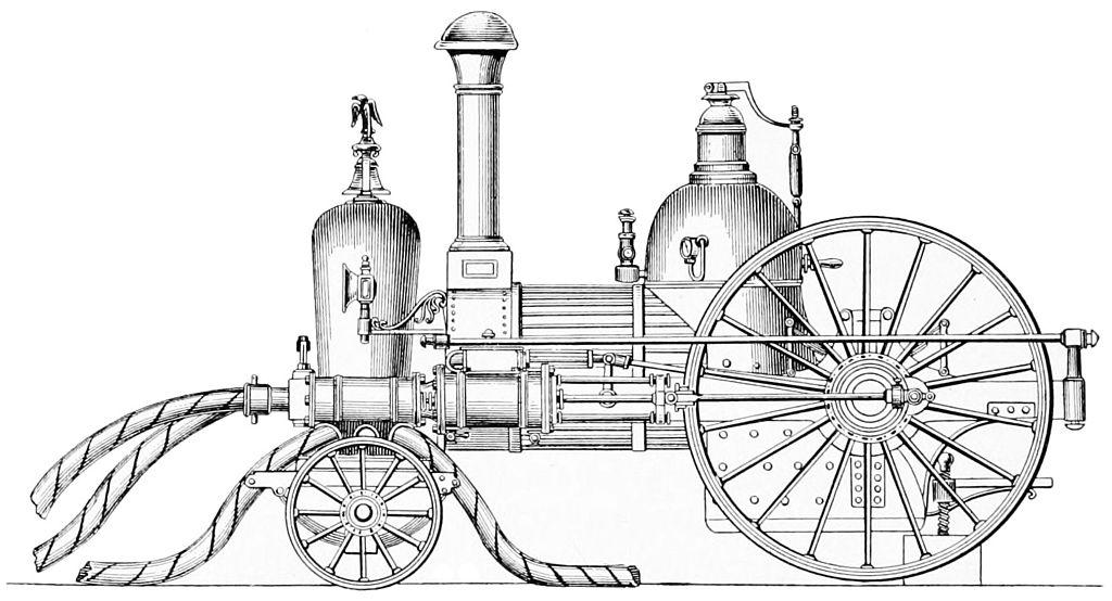 Filepsm V47 D504 First Usa Steam Fire Engine 1840
