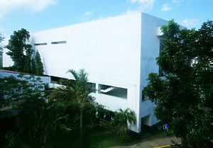 Polytechnic University of the Philippines Santo Tomas - The Cultural Building with the Auditorium at the 3rd floor.