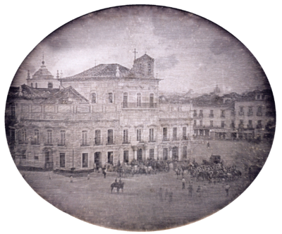 The City Palace, seat of the Brazilian Imperial government, in 1840 Paco imperial 1840.png