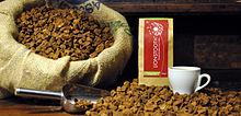 Packaged dandelion root coffee