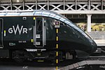 Paddington - GWR 800006 at the stop board.JPG
