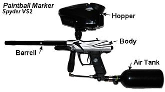 Paintball marker - Spyder VS2 Paintball Marker