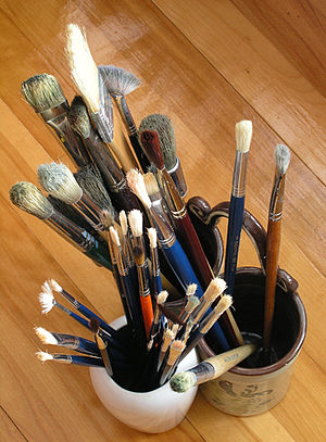 English: Paint brushes Deutsch: Pinsel