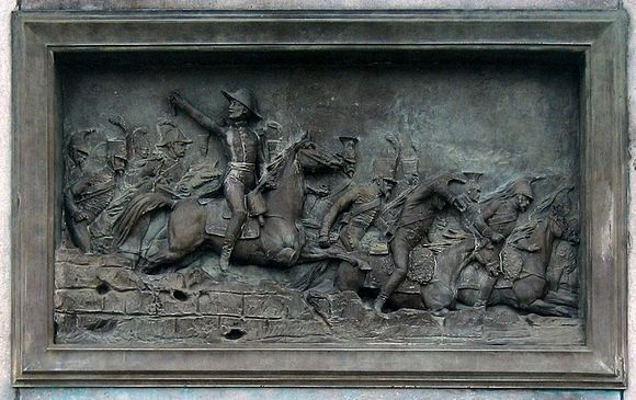 Pajol leading the charge at Montereau. Pajol.jpg