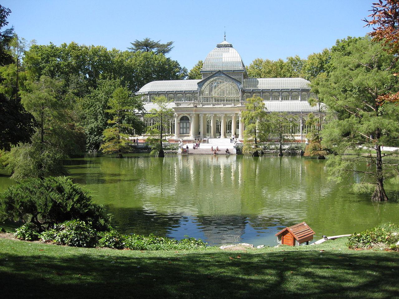 File palacio de cristal parque el retiro jpg wikimedia for Parque del retiro madrid