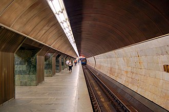 Palats Sportu (Kiev Metro) - Image: Palats sportu metro station Kiev 2010 02
