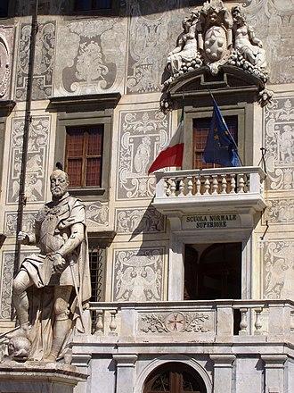 Scuola Normale Superiore di Pisa - A detail of the main building, Palazzo della Carovana