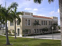 The original Palm Beach Junior College building was recently restored and is being used by Palm Beach Community College.