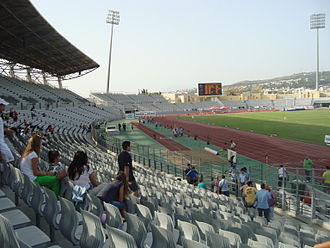 Football at the 2004 Summer Olympics - Image: Pampeloponisiako Olympic Stadium(1)