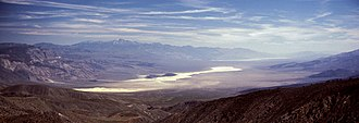 Telescope Peak - Panamint Valley, California looking south with Telescope Peak at left