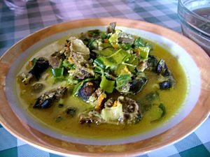 Bat as food - Paniki in yellow soup