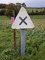 Panneau AB1 (France) près de Bignay (17) fabriqué en 1967.JPG