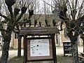Panneau d'affichage et boîte à livres de Sougères-en-Puisaye, Yonne, France.JPG