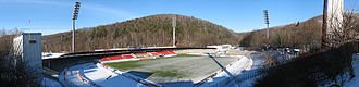 Sparkassen-Erzgebirgsstadion - The stadium in January 2007.