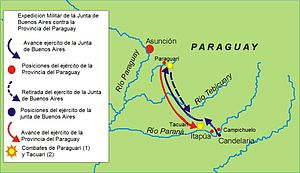 Paraguay campaign - Belgrano's campaign against Paraguay.