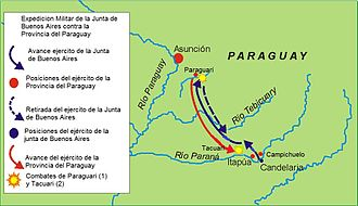 History of Paraguay - Belgrano's campaign against Paraguay.