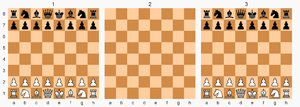"""Parallel Worlds Chess - Parallel Worlds Chess starting setup. Level 2 obeys its own rules and can be thought of as an interdimensional """"twilight zone""""."""