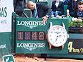 Paris-FR-75-open de tennis-25-5-16-Roland Garros-la pendule à Longines du Court Lenglen-03.jpg