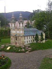 miniatura bazyliki w Krzeszowie - Park Miniatur Zabytk�w Dolnego �l�ska