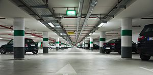 Underground parking at the Rheinauhafen in Cologne