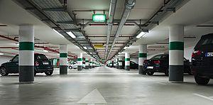 Underground parking at the Rheinauhafen in Cologne